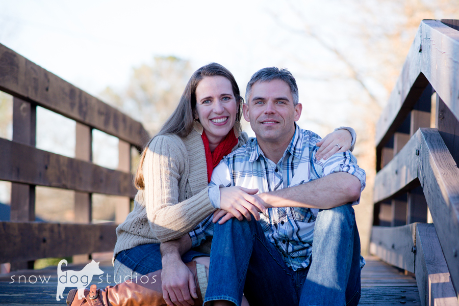 Couples Photography Session:  On the Pedestrian bridge in Waxhaw