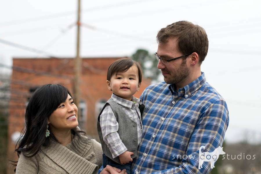 Happy Parents during a family photography session in Waxhaw, NC